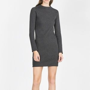 Zara Gray Long Sleeve Dress Medium